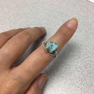 Jewelry - Earthy gemstone ring- handmade! Sz 5.5
